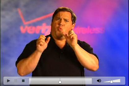 Screen grab from the Verizon Wireless ASL video